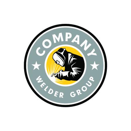 Schweißer-Logo-Emblem