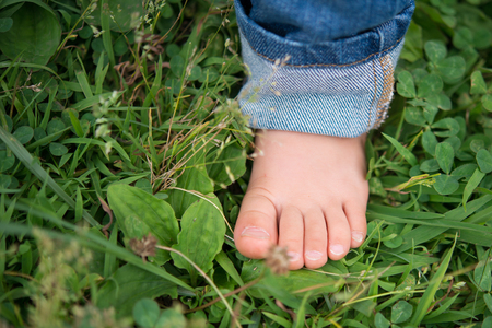 childs: Childs feet Stock Photo