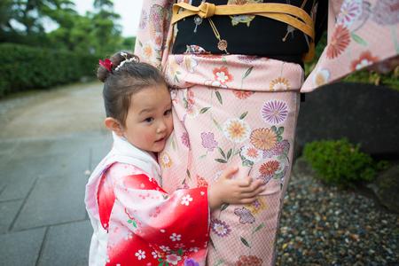Japanese shichigosan wearing kimono