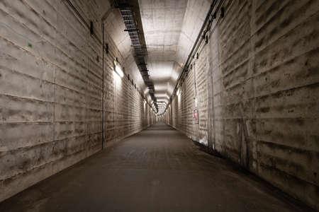 Creepy and quiet dark underpass Stock Photo
