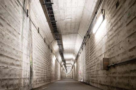 Creepy and quiet dark underpass