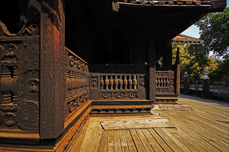 The old wooden building several years old 版權商用圖片