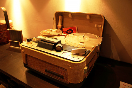 Old-fashioned record player 免版税图像