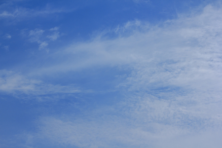 Sky and white clouds background image 写真素材