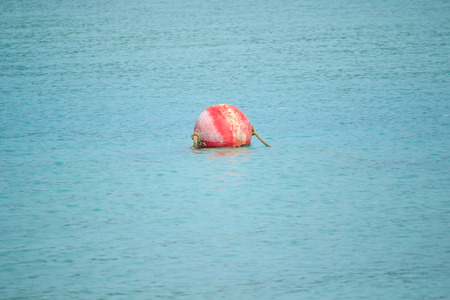 Buoy floating in the sea Used for alignment in the sea