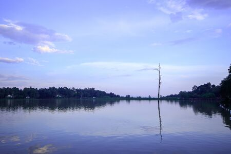 Landscape, Huai Tueng Thao evening reservoir, Thailand, beautiful atmosphere