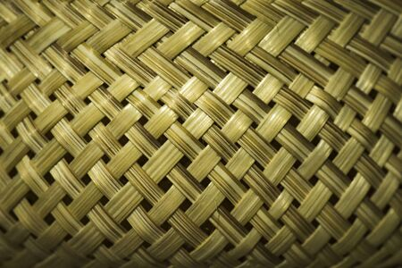 Bamboo weaving, wickerwork, woven bamboo pattern