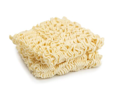 Instant noodles isolated on white background. Standard-Bild