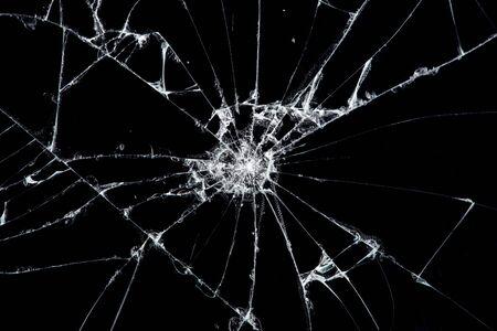 Textura de vidrio roto con grietas. Resumen de teléfono inteligente con pantalla agrietada de choque.