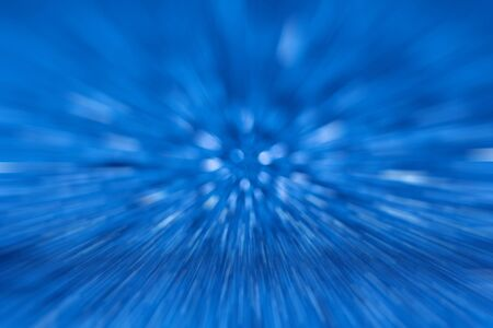 Blue blur abstract speed background, abstract zooming effect for background. Stok Fotoğraf