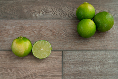 Fresh limes prepared for cooking. Stock Photo - 116986868