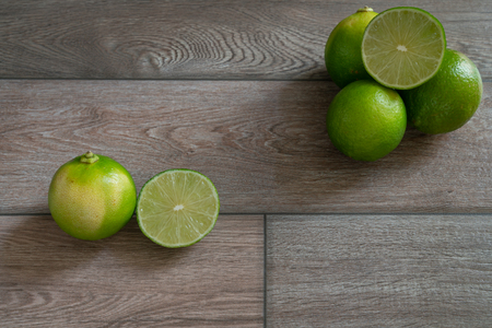Fresh limes prepared for cooking. Stock Photo