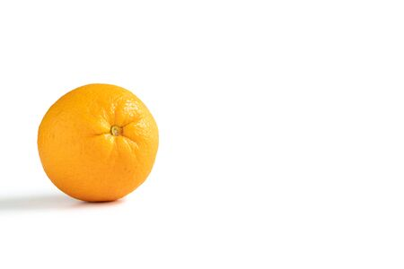 A Navel orange isolated on white background 免版税图像