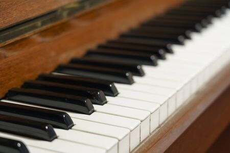 The old classic piano keyboard