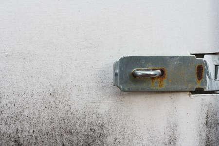Metal ring and hasp on the locker door for holding the padlock Reklamní fotografie