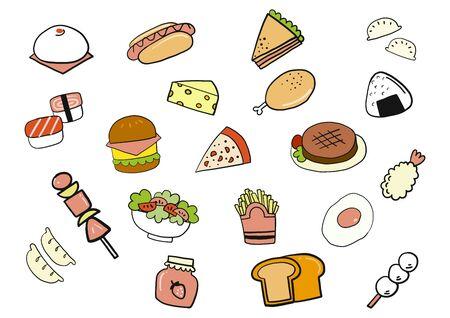 Food doodle hand draw Illustration