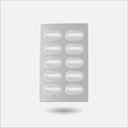 blisters: Pill in blister pack isolated on white background