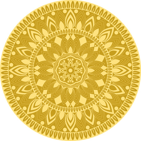 Golden mandala pattern