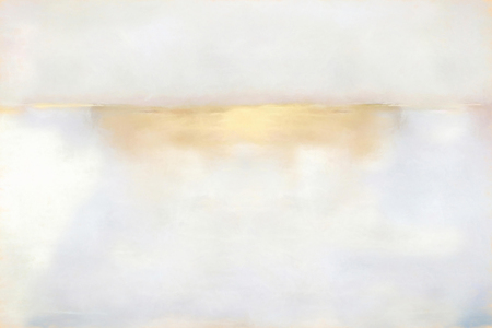 Light abstract drawing paints on canvas. White, beige and gold color background.