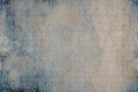 Abstract drawing paints on canvas. Dirty blue and grey color background.