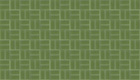 Green ceramic mosaic tiles texture background. Green metro tiles. 写真素材