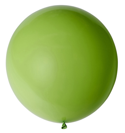 Lime balloon isolated on white background.
