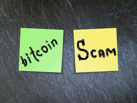 Bitcoin (BTC) crypto currency is scam. 版權商用圖片