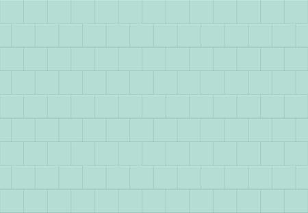 Simple azure blue square ceramic mosaic tiles texture background. Horizontal picture.