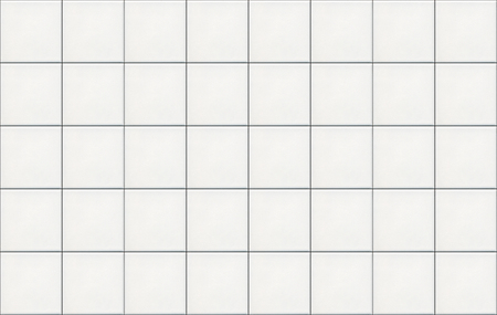 White matte square ceramic wall tiles with black seams background.