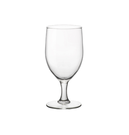 Empty elegant beer glass isolated on white background.