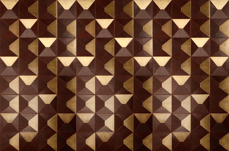 Brown and gold convex tiles with leather surface texture background. Looks like wooden wall tiles. 版權商用圖片