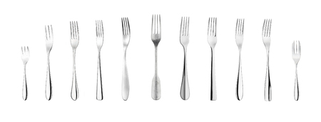 Set of different forks.