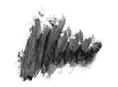 Abstract black brush strokes isolated on white background. Grunge brush smears.