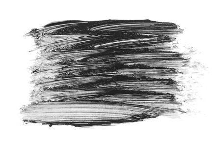 Abstract black brush strokes isolated on white background. Acrylic brush smears.