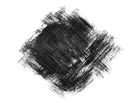 Black grunge brush strokes isolated on white background. Abstract brush drawing.