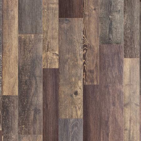 Dark brown oak wood floorboards with natural pattern texture background. Imagens