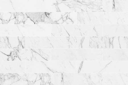 White rectangle marble wall tile texture background. Imagens