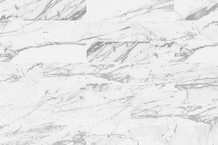White rectangle marble wall tile with natural pattern texture background. Imagens