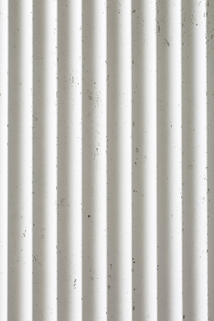 White ribbed concrete surface texture background.