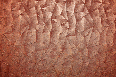 Red gold steel surface with abstract triangle pattern texture background. Imagens - 124533403