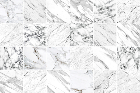 White and black marble wall tile texture background. Square marble tile with natural pattern. Imagens