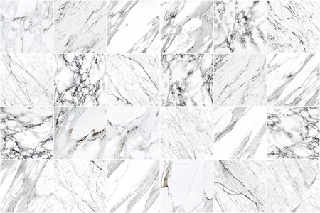 White and black marble wall tile texture background. Big square marble tile with natural pattern.