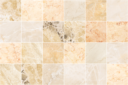 Beige marble wall tile texture background. Square marble tile with natural pattern.