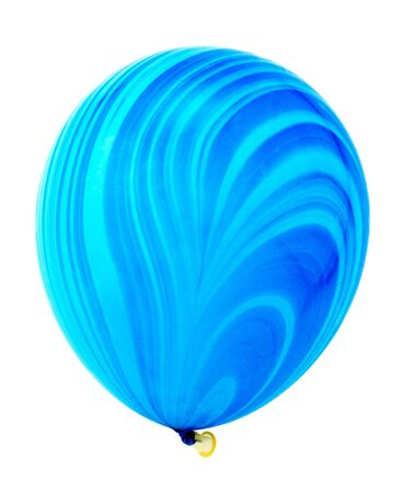 Beautiful bright blue balloon isolated on white background. Imagens