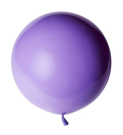 Big beautiful purple violet balloon isolated on white background. Imagens - 124845932