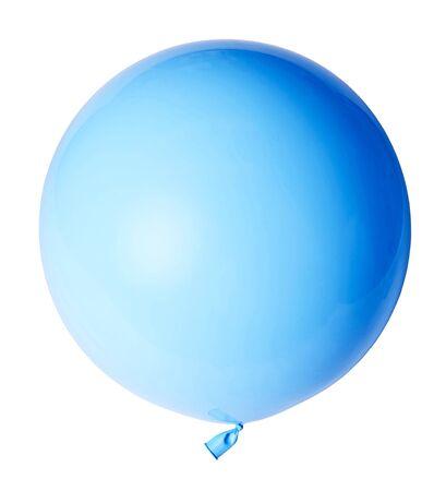 Big beautiful blue balloon isolated on white background.
