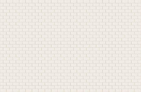 Weiße rechteckige Keramikfliese mit gebrochenem Oberflächenstrukturhintergrund. Langes breites Bild der weiß gefliesten Wand. Standard-Bild