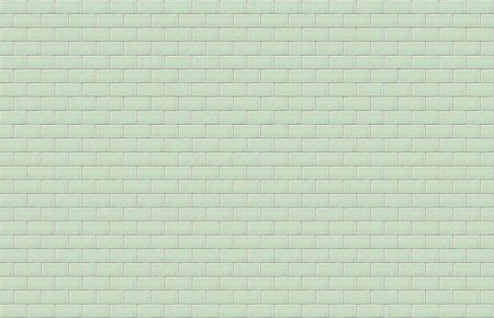 Pale green ceramic rectangle tile with cracked surface texture background. Green tiles wall.