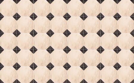 Black and beige shabby ceramic wall tiles with abstract geometric pattern texture background.