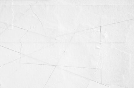 Ripped pieces of white paper masking tape texture background.